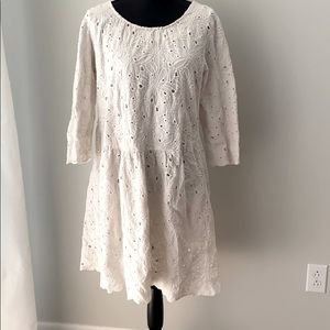 Lili Wang for Lili's closet XL white eyelet dress